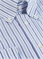 Royal and Sky Bengal Stripe Linen & Cotton Button Down