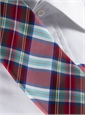 Silk Woven Plaid Tie in Fire