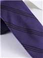 Silk Triple Stripe Tie in Violet