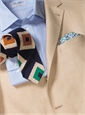 Silk and Linen Retro Diamond Tie in Lapis