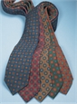 Wool Printed Medallion Motif Tie in Tartan