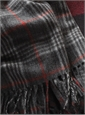 Cashmere Plaid Scarf in Slate with Windowpanes