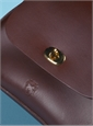 Ladies Leather Handbag in Claret