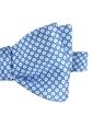 Silk Floral Motif Printed Bow Tie in Sky Blue
