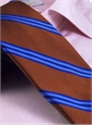 Silk Woven Triple Stripe Tie in Spice