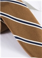 Mogador Woven Stripe Tie in Walnut