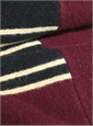 Lambswool Scarf in Claret with Black & Gold