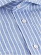 Sky Blue and White Narrow Stripe Linen Cutaway