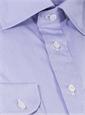 Sky Blue, Strawberry and White Thin Stripe Spread Collar