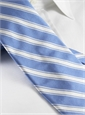 Silk Woven Double Stripe Tie in Sky