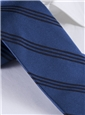 Silk Triple Strip Tie in Denim