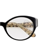 Lafont Bold Oval Frames in Black and Leopard