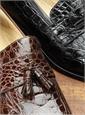 Tassel Crocodile Loafers
