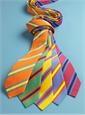 Silk Stripe Tie in Sun