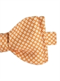Silk Floral Motif Printed Bow Tie in Honey