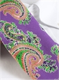 Linen Print Large Paisley Tie in Lilac