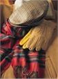 Tan And Gold Sheepskin Lined Deerskin Gloves