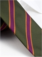 Silk Stripe Tie in Field