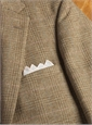 Jacket Shetland Wool Camel Plaid