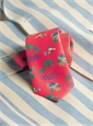 Silk Print Luau Tie in Coral