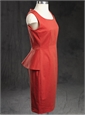 Ladies Cotton Gabardine Cerise Dress