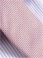 Silk Basketweave Tie in Orange and Violet