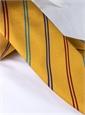 Silk Double Stripe Tie in Marigold