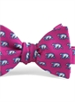 Silk Print Polar Bear Bow in Azalea
