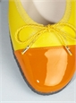 Contrast Toe Yellow and Orange Flats