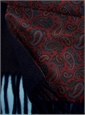 Paisley Silk Scarf with Cashmere Reverse