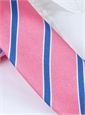Silk Stripe Tie in Pink