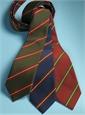 Mogador Silk Striped Tie in Navy