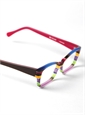 Silver Line Multi-Colored Handmade Frame in Lilac and Magenta