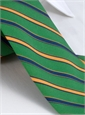 Silk and Wool Multi-stripe Tie in Kelly