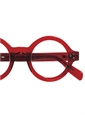 Silver Line Bold Round Frame in Red