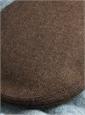 Wool Garforth Cap in Mocha Herringbone