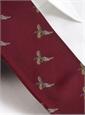 Silk Woven Pheasant in Flight Tie in Cardinal