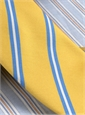 Mogador Silk Stripe Tie in Lemon