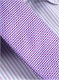 Silk Basketweave Tie in Magenta and Violet