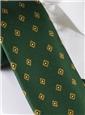 Silk Diamond Print Tie in Kelly