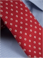 Diamond Printed Silk Tie in Brick