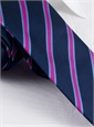 Silk Stripe Tie in Magenta and Sky