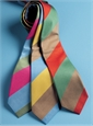 Mogador Woven Multi Stripe Tie in Fuchsia, Sage and Sky