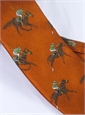 Silk Woven Derby Motif Tie in Copper