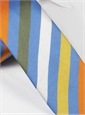 Silk Multi-Striped Tie in Blue