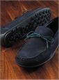 Geox Moccasins in Navy Suede