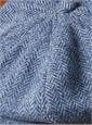 Wool Halifax Cap in Royal Blue Herringbone
