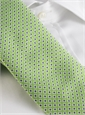 Silk Print Small Flower Tie in Lime with Navy