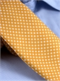 Silk Print Dot Motif Tie in Mango