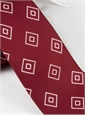 Silk Diamond Printed Tie in Russet
